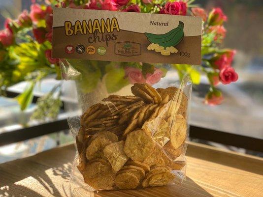 Banana Chips Natural 100g Frutto Della Terra