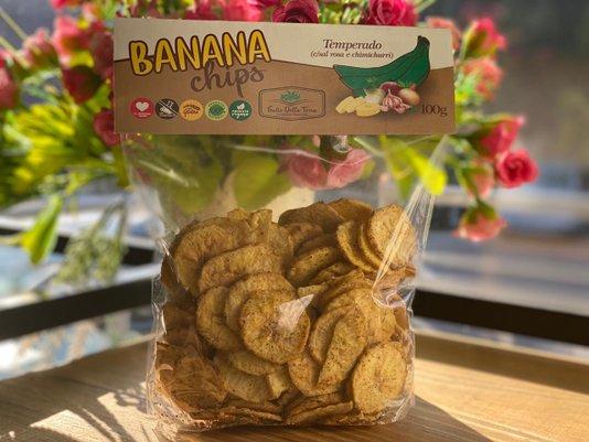 Banana Chips Temperado 100g Frutto Della Terra