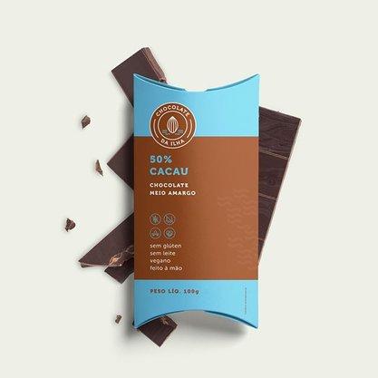 Chocolate em Barra Amargo 50% Cacau 100 gr