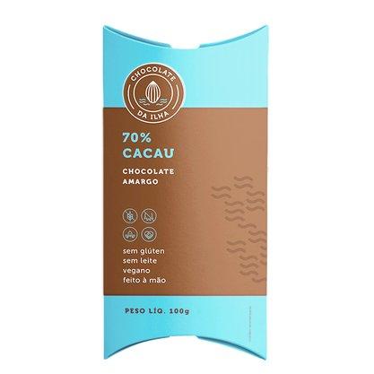 Chocolate em barra 70% 100g Chocolate da Ilha