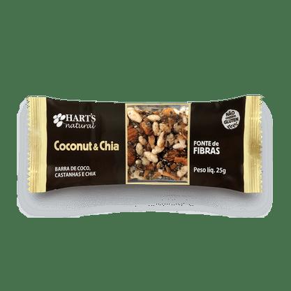 Barra de Cereal Coconut & Chia  25g Hearts