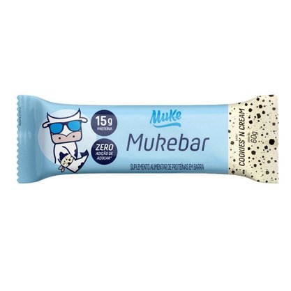 Barra de Proteína Mukebar Sabor Cookies Zero Açúcar 60g