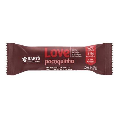 Barra Love Paçoquinha Amendoim e Chocolate 70% Harts 35g