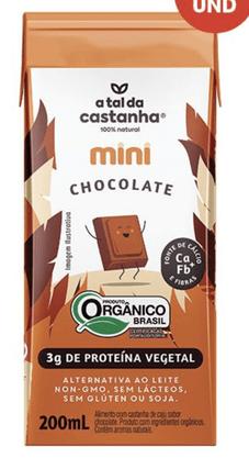 Bebida Vegetal Orgânica Chocolate 200ml A Tal da Castanha
