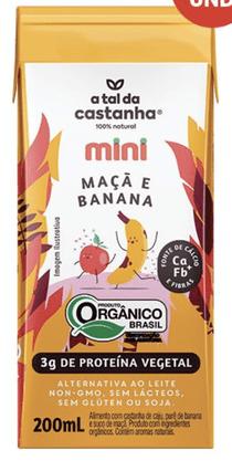 Bebida Vegetal Orgânica Maça e Banana 200ml A Tal da Castanha