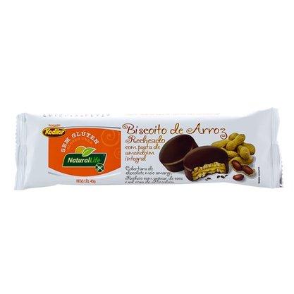 Biscoito de Arroz Sem  Glutén Recheado com pasta de amendoim