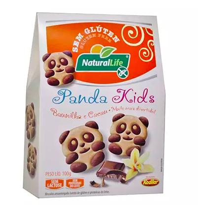 Biscoito panda kids s/glut s/lac sabor baun  e cacau 100g