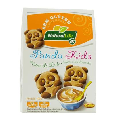 Biscoito panda kids s/glut s/lact sabor doce de leite 100g