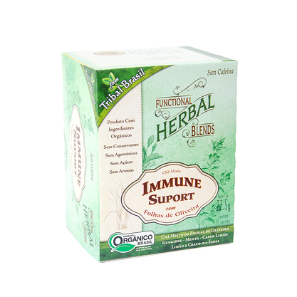 Chá Misto Immune Suport Orgânico 22,5g 15 saches Tribal Brasil
