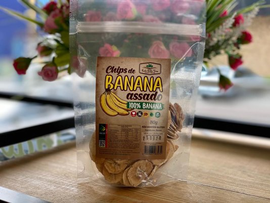 Chips de Banana Assado (80g) Frutto Della Terra