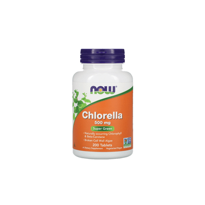 Chlorella em Tabletes (200)  500mg NOW Foods