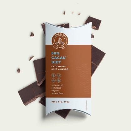 Chocolate 50% diet 100g Choc da Ilha