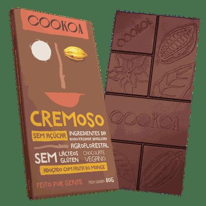 Chocolate Cremoso Sem Açúcar Cookoa 80 g