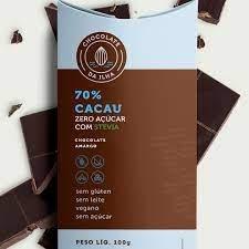 Chocolate da Ilha 70% Zero Açúcar (100g)