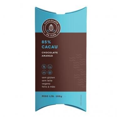 Chocolate em barra 85% 100g Chocolate Da Ilha