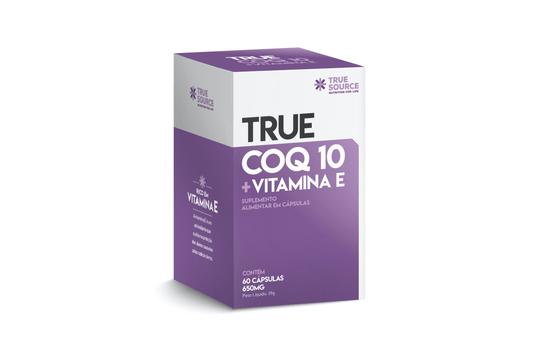 Coenzima Q10 Vitamina E 650mg True 60 Cápsulas