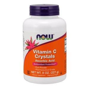 Cristais de Vitamina C em Pó NOW 227 g