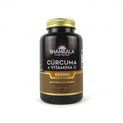 Cúrcuma + Vitamina C  650mg 120cap Shambala