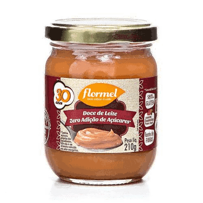 Doce de Leite Cremoso Zero  Açúcar Flormel 210g