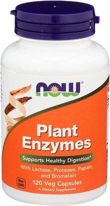 Enzimas digestivas de plantas now 120 capsulas