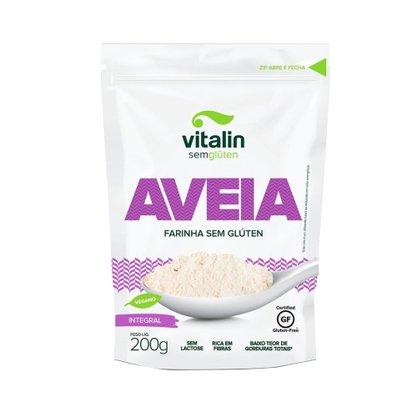 Farinha de Aveia int s/glútem 200g Vitalin