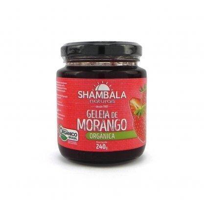 Geléia de Morango Orgânico sem Açúcar  240g Shambala