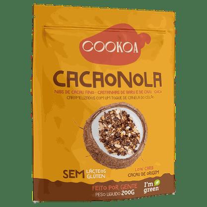 Granola de Cacau e Castanhas 200g Cookoa