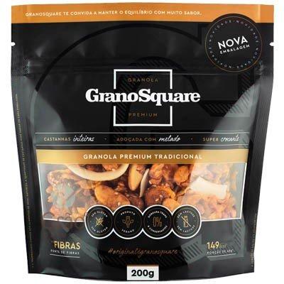 Granola Premium Tradicional Sem Glúten (200g)  GranoSquare