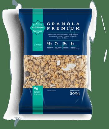 Granola Premium Adoçada com Melado 500g  Alquimya