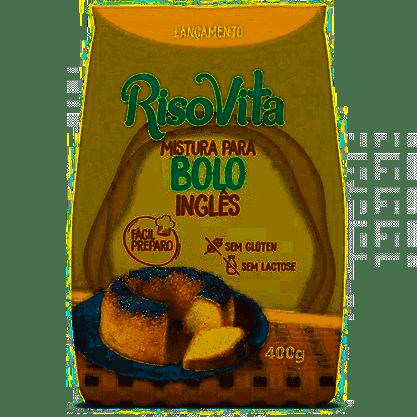 Mistura de bolo ingles Risovita 400g s/ glutén e s/ lactose