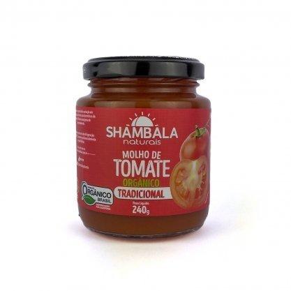 Molho de Tomate Tradicional Orgãnico 240g - Shambala