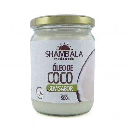Oleo de coco 500 ml Shambala s/ sabor