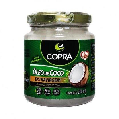 Oleo de coco extra virgem 200ml copra