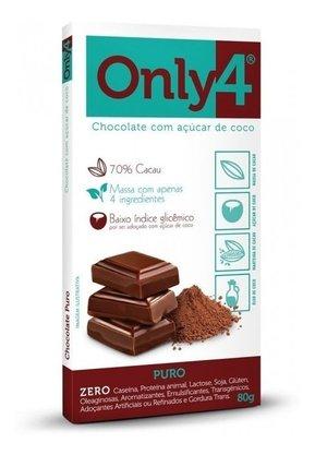 Chocolate 70% Cacau Puro - Only4 80g