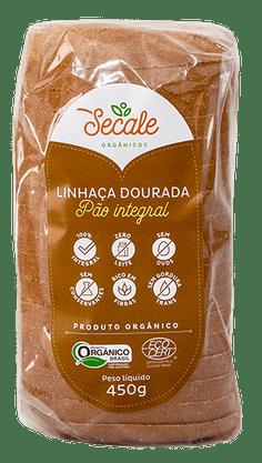 Pão Orgânico Integral c/Linhaça 450g Secale