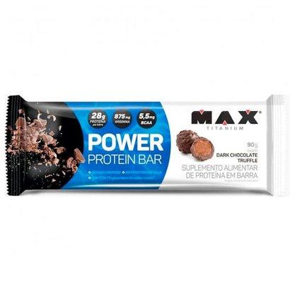 Power Protein Bar Sabor Dark Chocolate Truffle (Barra de Proteína Trufa Chocolate Amargo de 90G) - Max Titanium