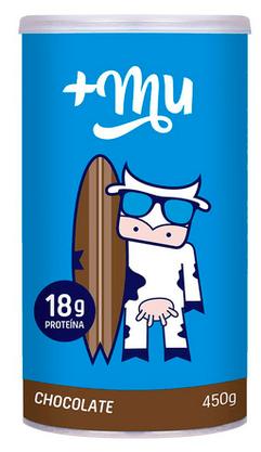 Whey Protein +Mu Tradicional Sabor Chocolate pote 450g