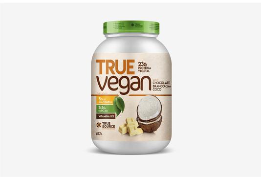 Proteina True Vegan Chocolate Branco com Coco 837g