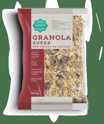 Super Granola Sem Açúcar 800g Alquimya