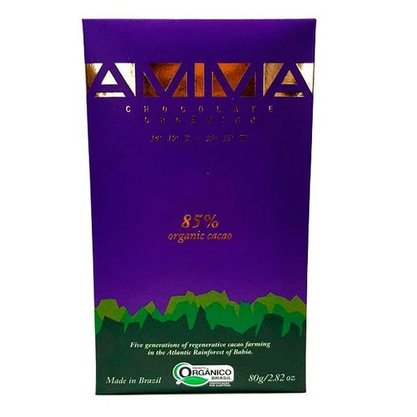 Tablete chocolate 85% 80g Amma