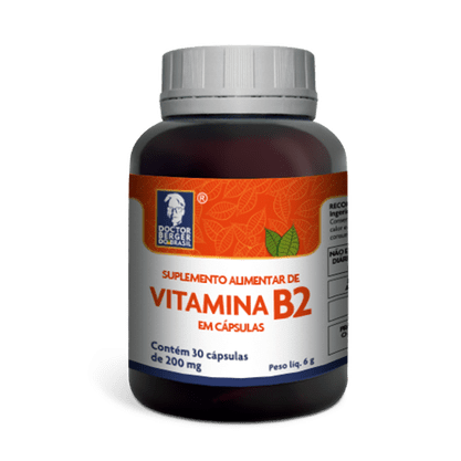 Vitamina B2 30caps de 200mg Doctor Berger