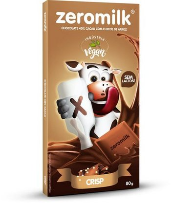 Zeromilk  Crisp Tablete Chocolate Sem Lactose 80g