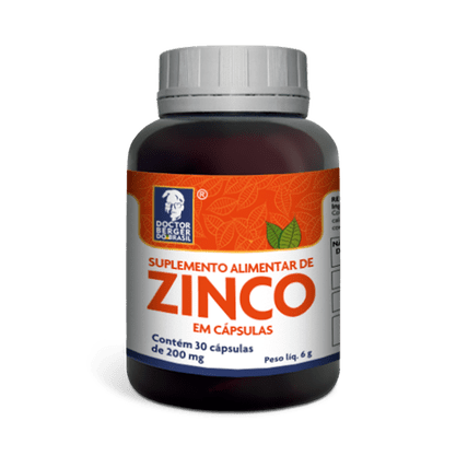 Zinco 200mg 60 Cápsulas Doctor Berger